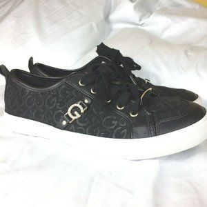 G by Guess Womens Shoes Size 8.5 M Black Gold